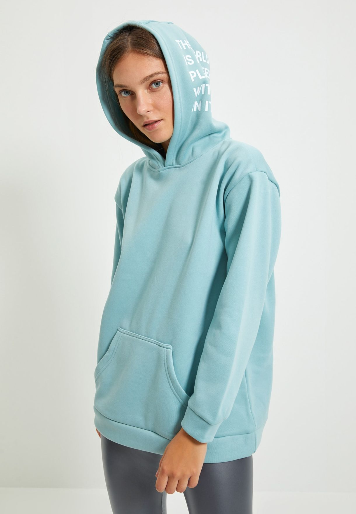 Graphic Knitted Hoodie