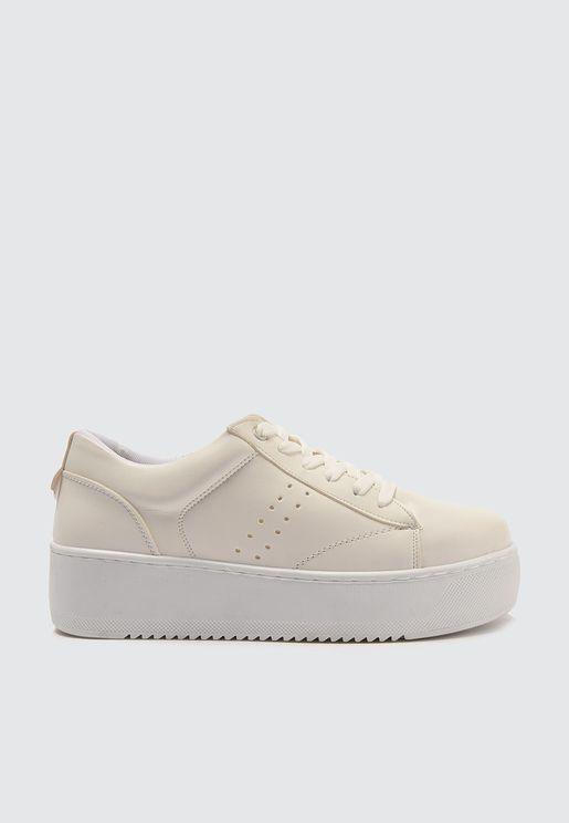 Plain Low-Top Sneakers