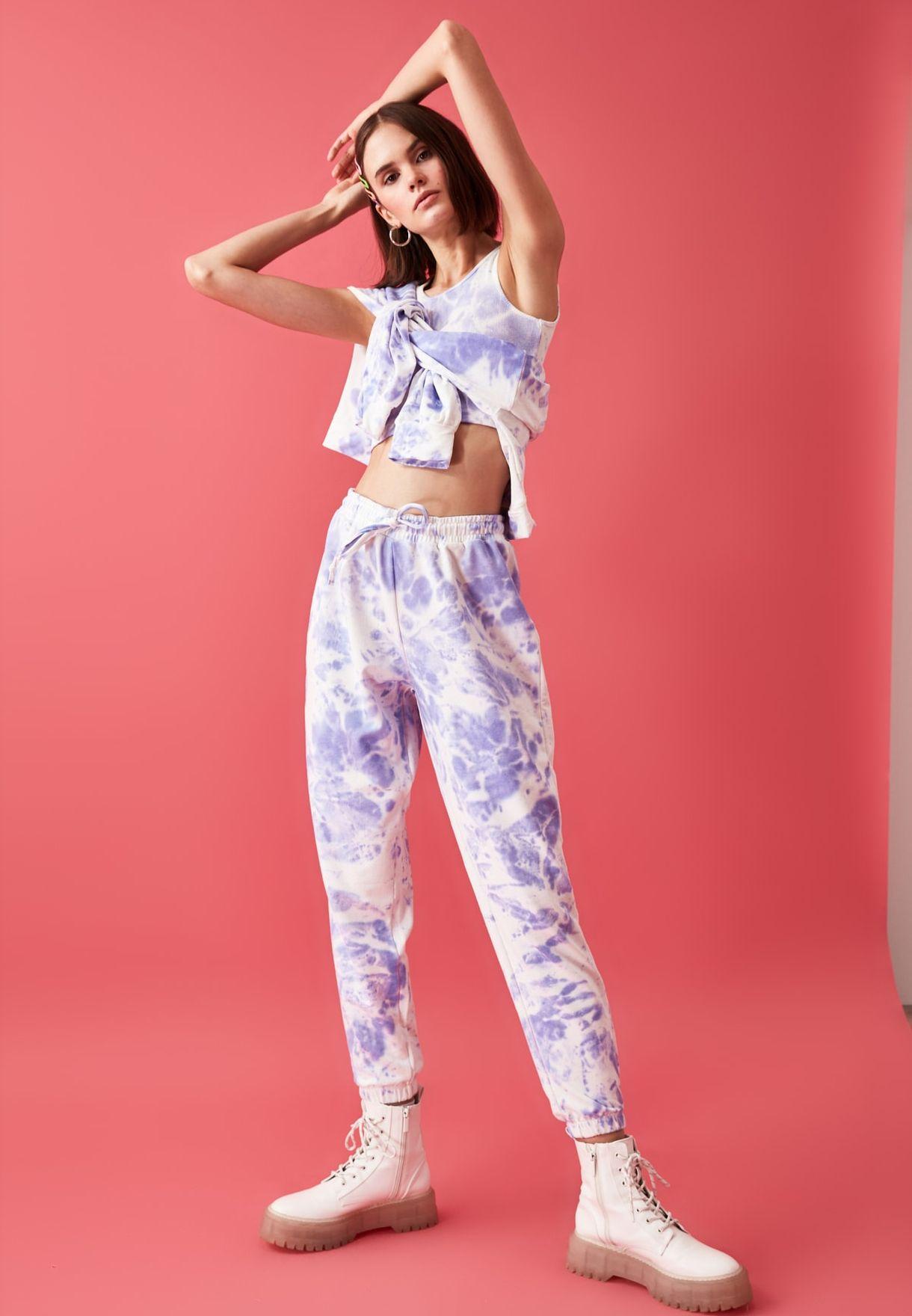 Printed Top & Pants Set