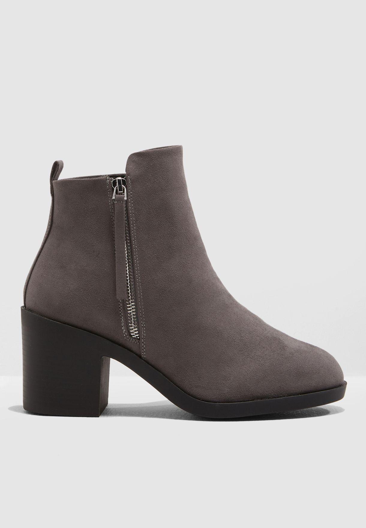 d9ddc7b1ae7 Shop Topshop grey Brittney Unit Boot 42B07PGRY for Women in UAE ...