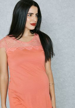 Lace Detail Swing Top