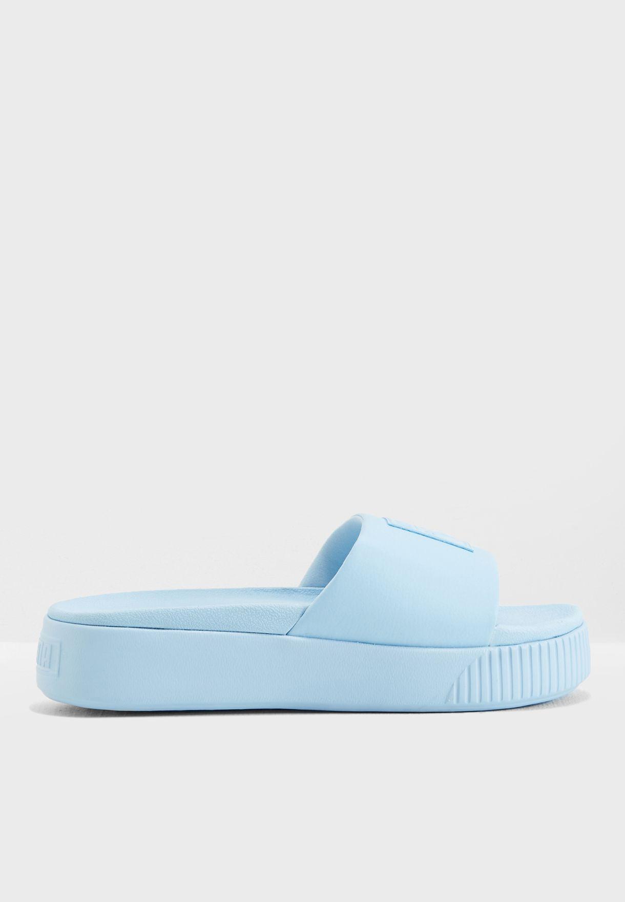 289f29cf09c606 Shop PUMA blue Platform Slide 36612106 for Women in Saudi ...