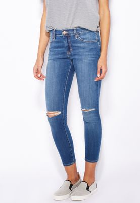 Topshop PETITE MOTO Ripped Leigh Jeans