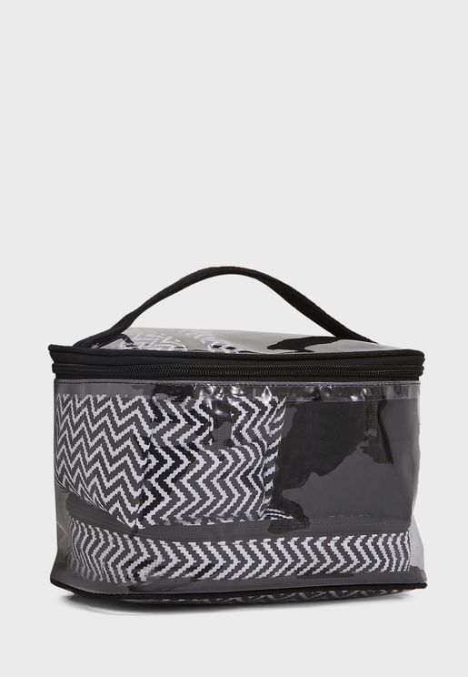 4 In 1 Chevron Cosmetic Bag