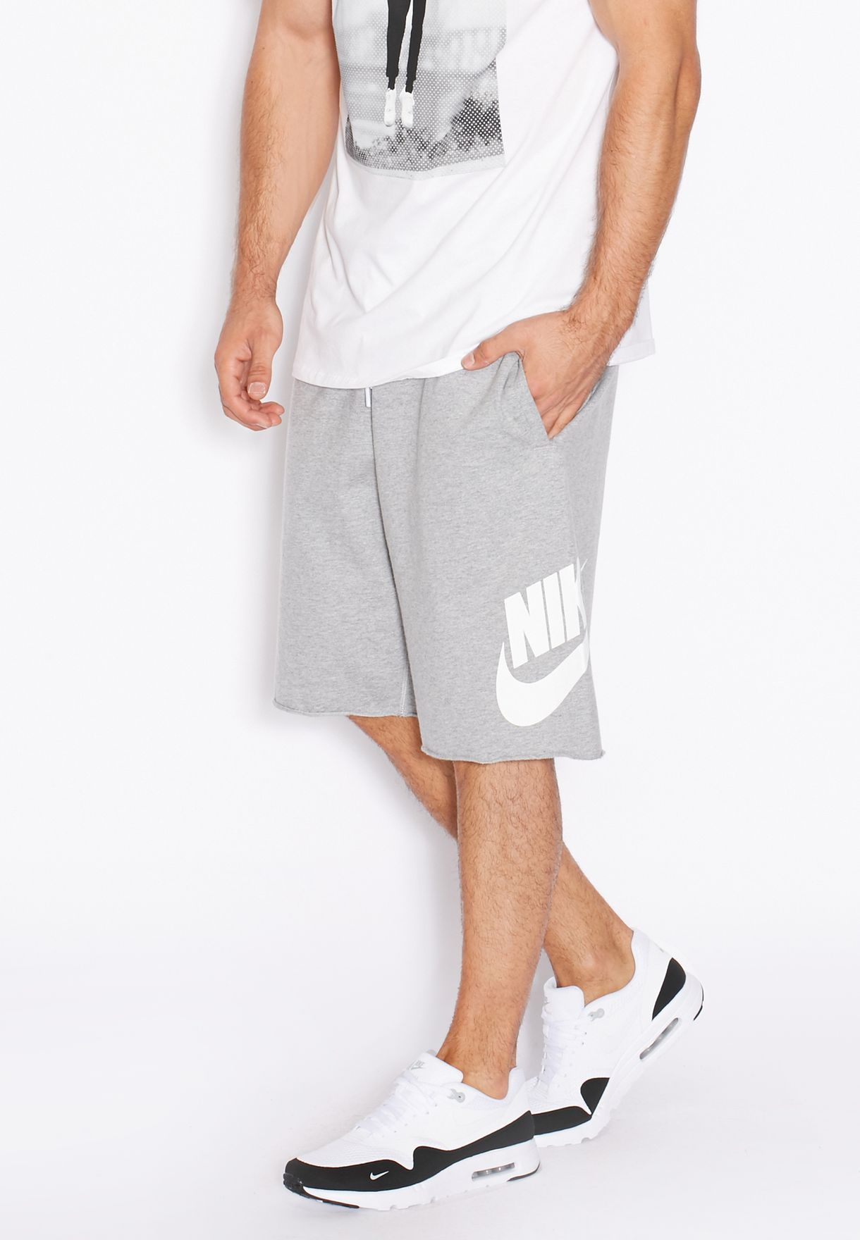 984c699e85b9 Shop Nike grey Alumni Solstice Shorts 728691-063 for Men in Kuwait -  NI727AT91DIM