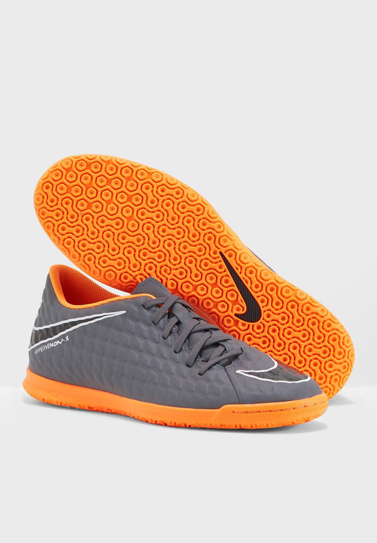Shop Nike grey Hypervenom Phantomx 3 Club IC AH7280-081 for ... bc9db00eba830