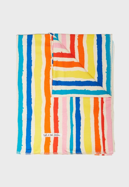 Infant Striped Blanket