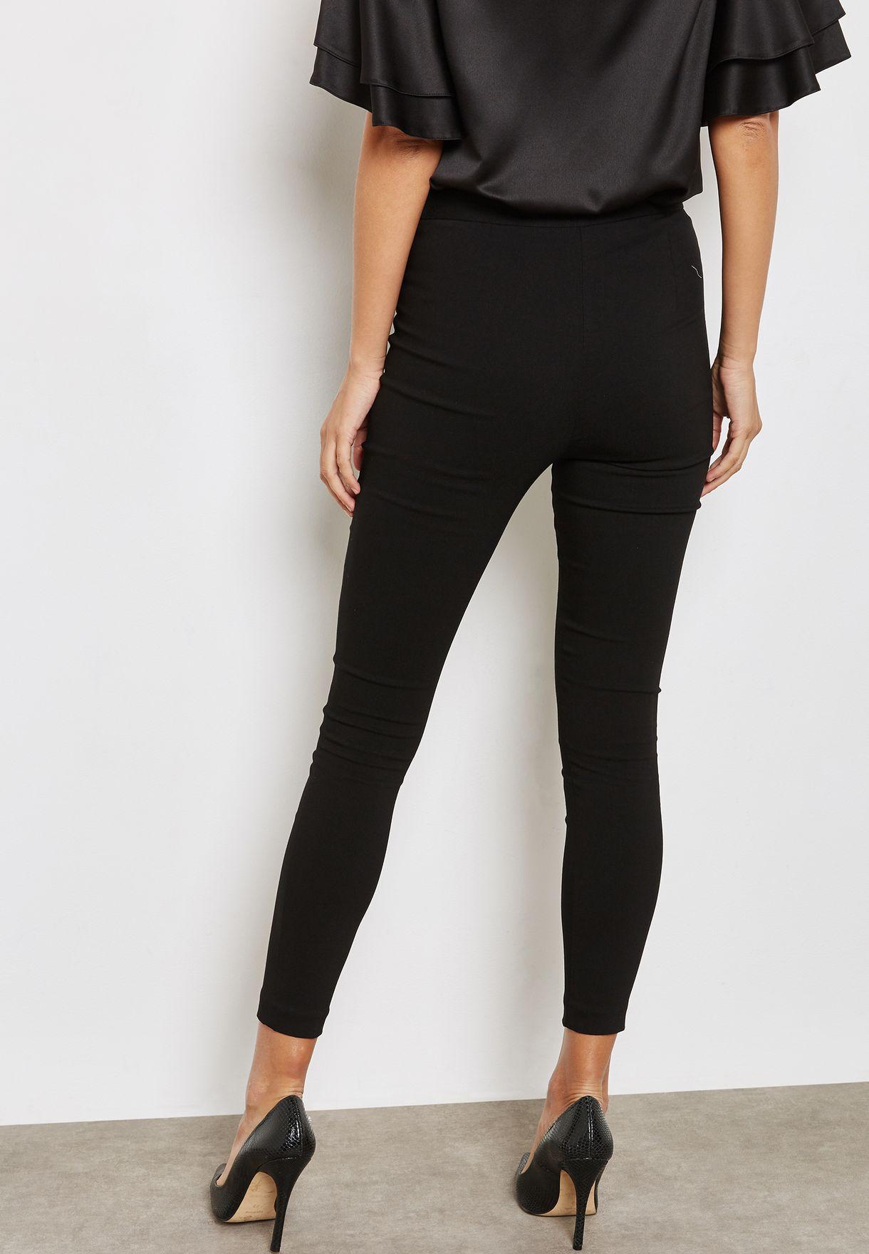 Zip Detail Skinny Pants