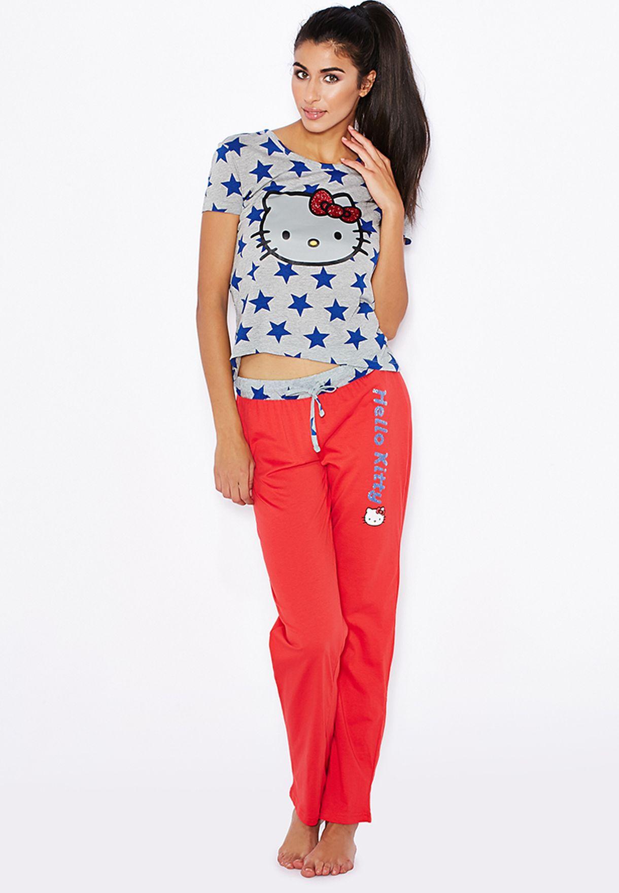 8452ef281 Shop Hello Kitty prints Hello Kitty Pyjama Set for Women in UAE ...