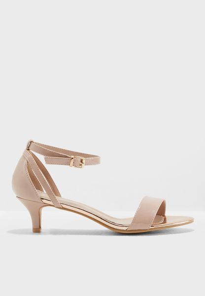 Nude Sunrise Heeled Sandals