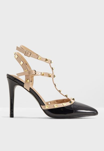 Studded Strappy Pump