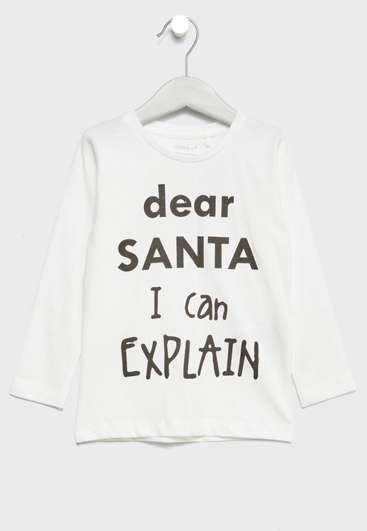 Christmas Tween Slogan T-Shirt