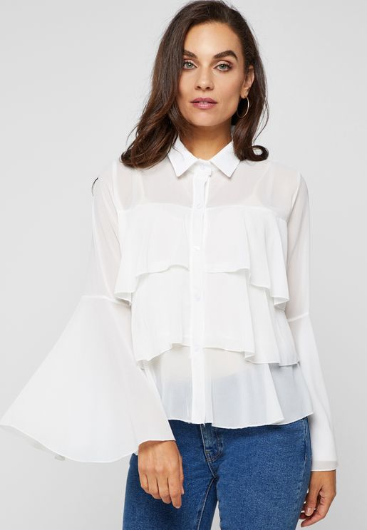 Tiered Ruffle Shirt