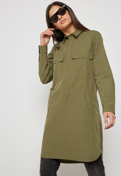 Longline Placket Shirt