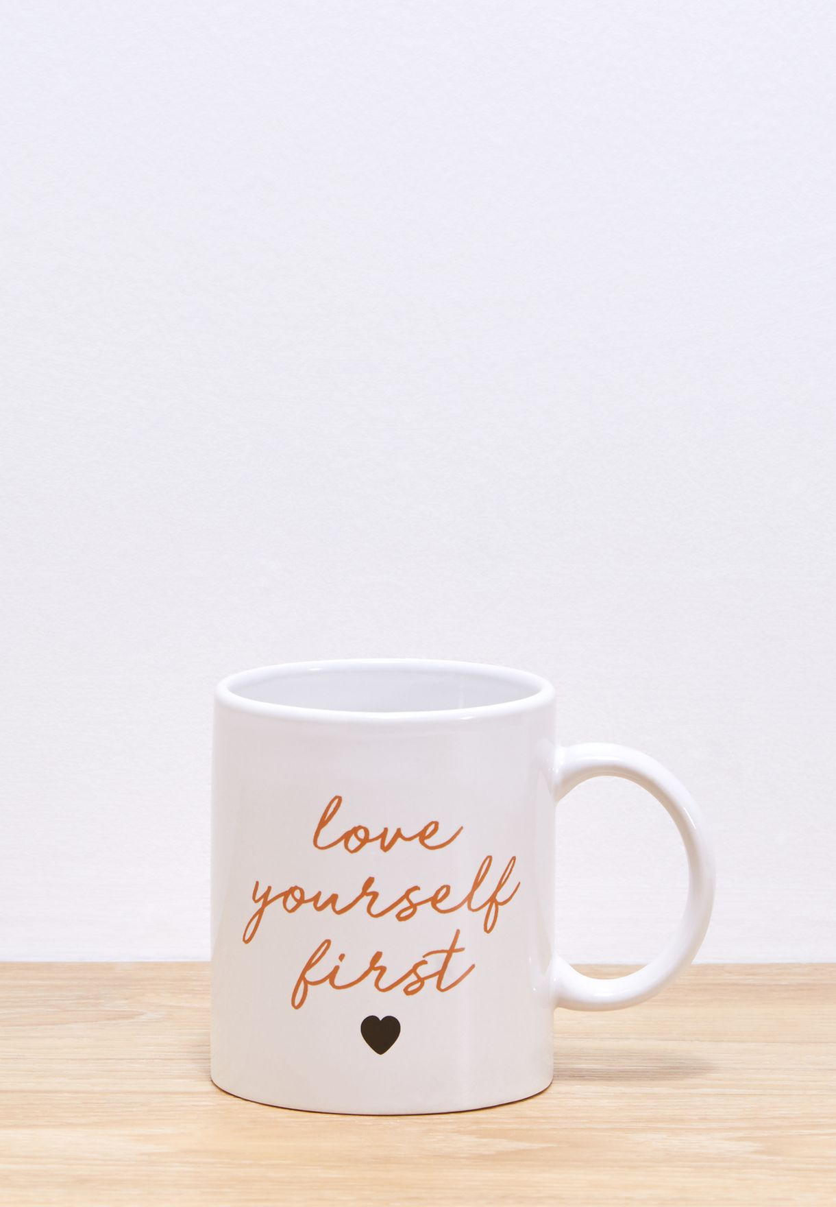 75f856cd3671c Shop Aurora white Love Yourself First Mug NAM400176 for Women in UAE -  AU366AC91NDW