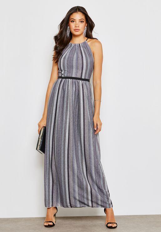 Shimmer Stripe Maxi Dress