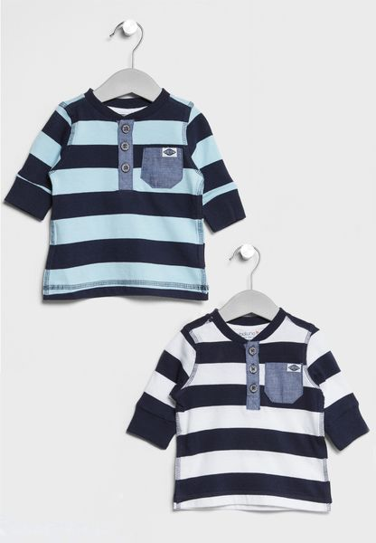 Infant 2 Pack Striped T-Shirts