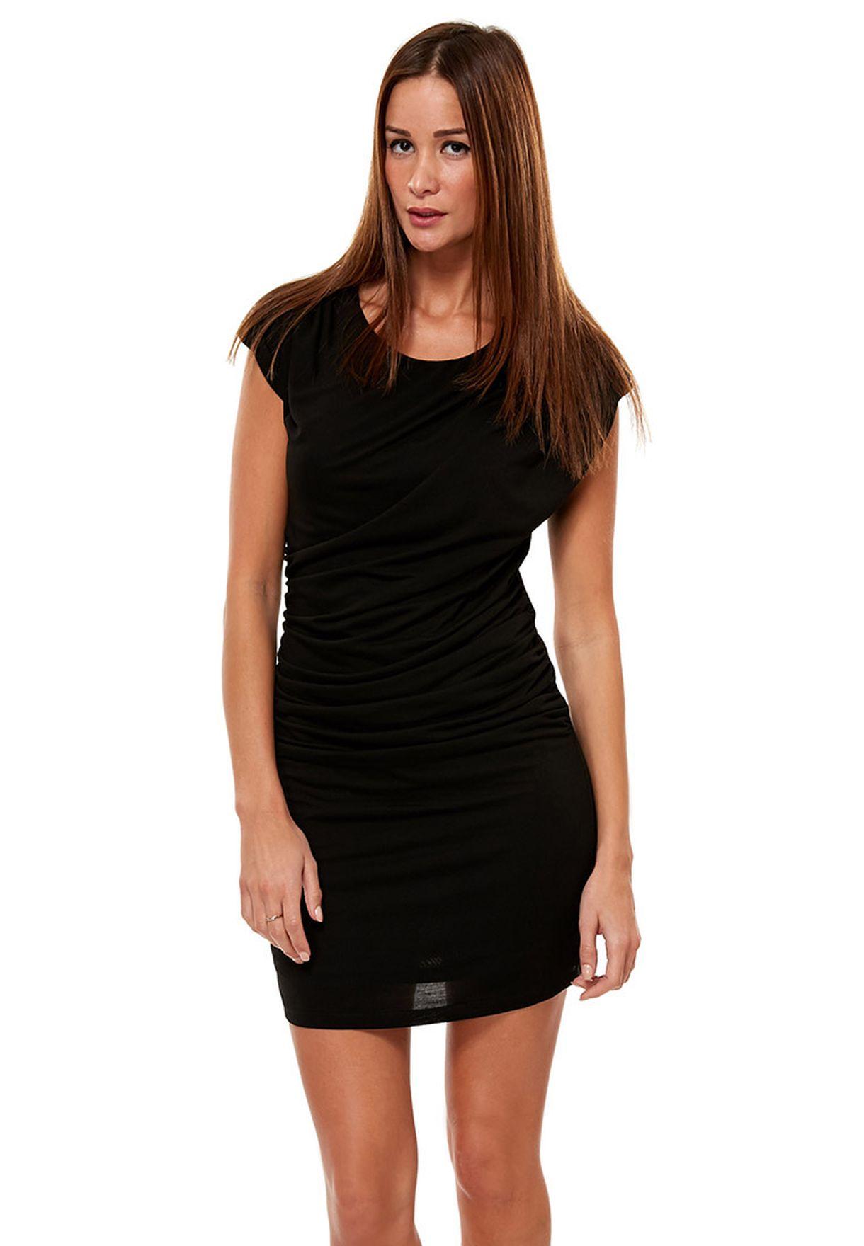 5fb83a35b616a Shop Vero Moda black Village Mini Dress for Women in Qatar ...