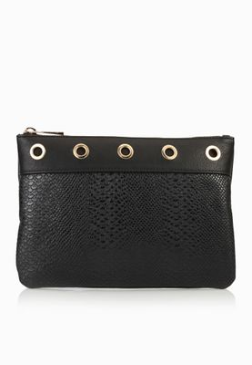 Miss Selfridge Eyelet Clutch