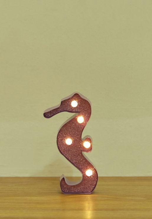 Mini Seahorse Marquee Light