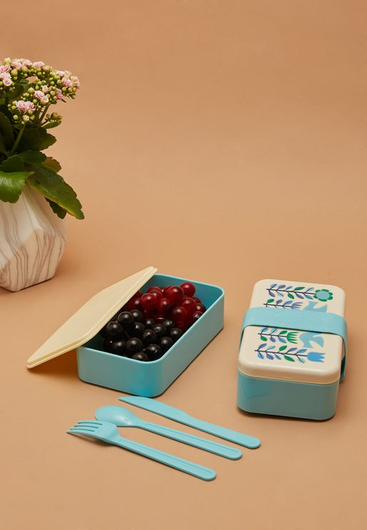 Folk Doves Bento Box