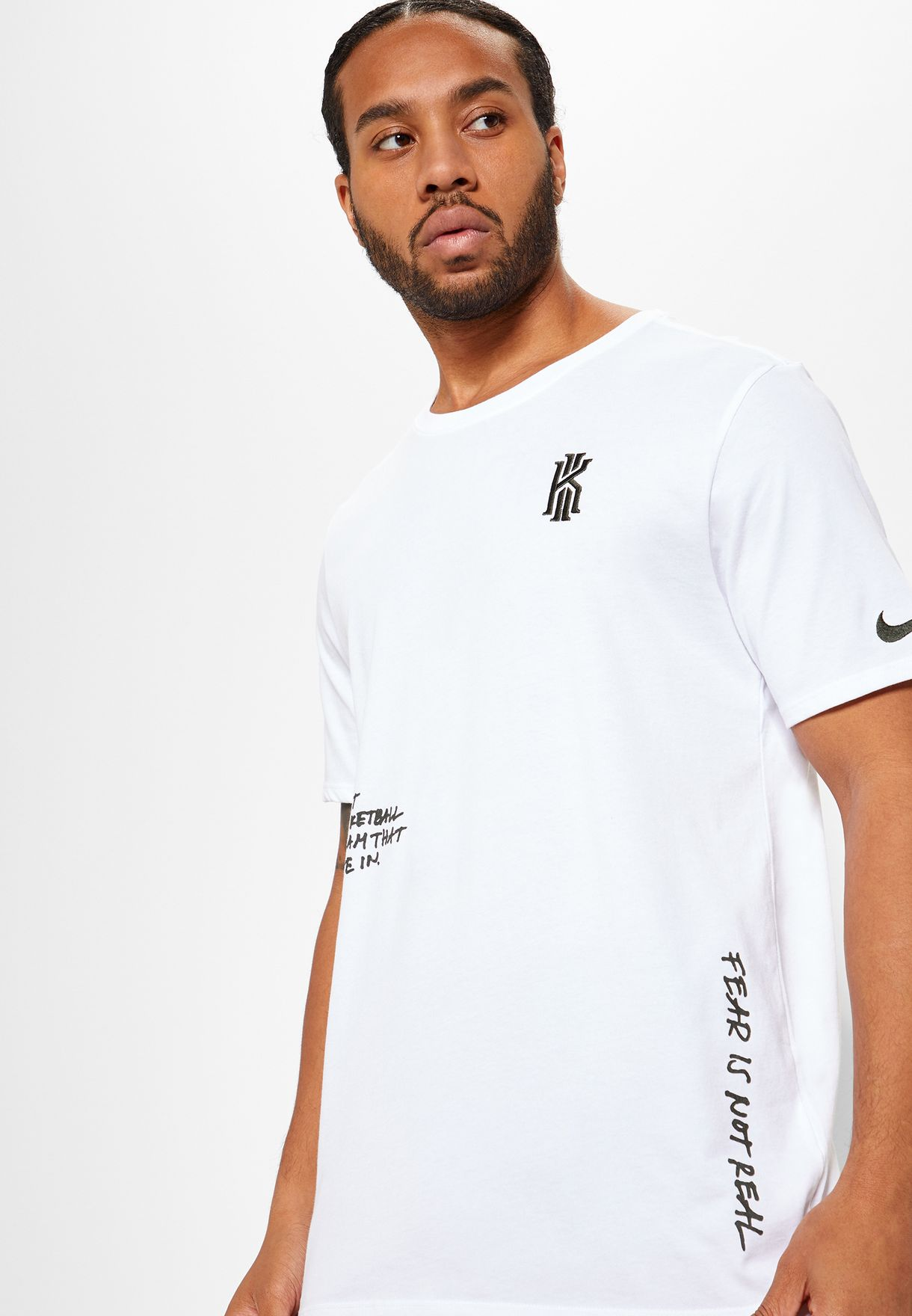 ffe9a2a4f8b Shop Nike white Kyrie Irving T-Shirt 924218-100 for Men in UAE ...