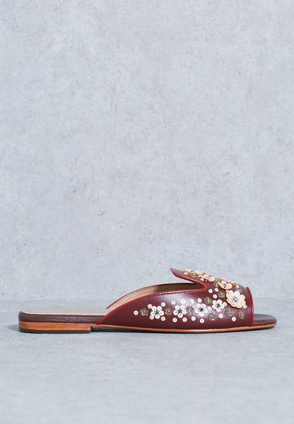 Embellished Floral Detail Sandal