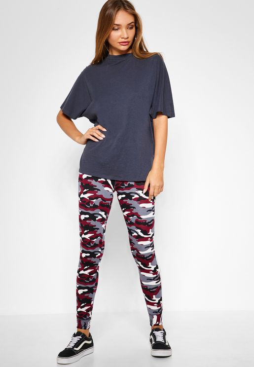 Side Striped Camouflage Joggers