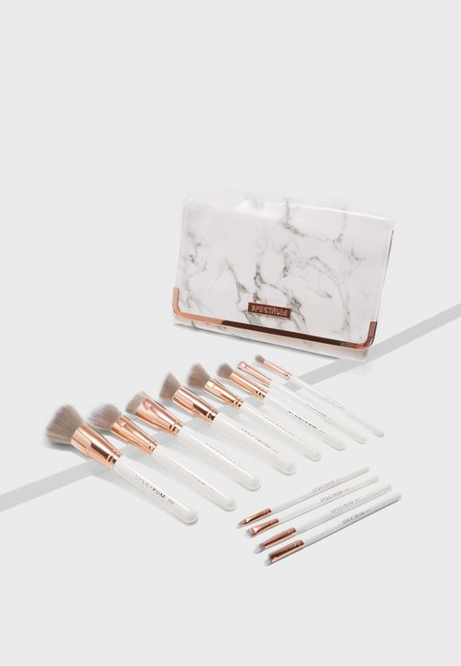 12 Pack Marbleous Make Up Brushes