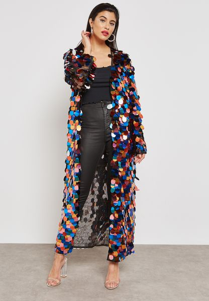 Sequin Maxi Kimono