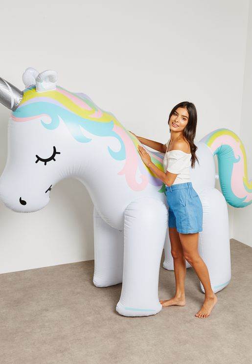Giant Inflateable Unicorn Yard Sprinkler 6ft
