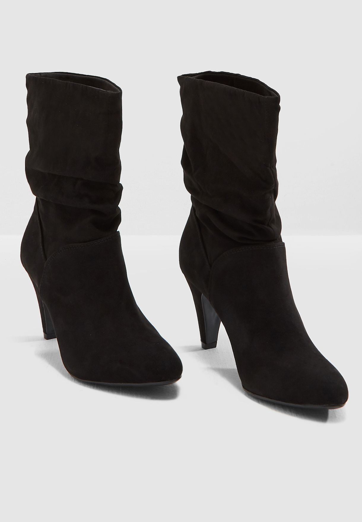 Dorothy Perkins black Kylie Ruched Boot