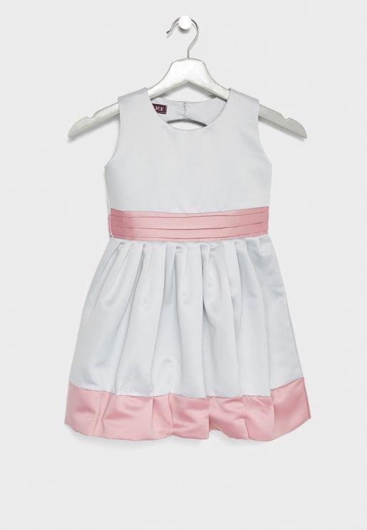 Little Contrast Detail Fit & Flare Dress