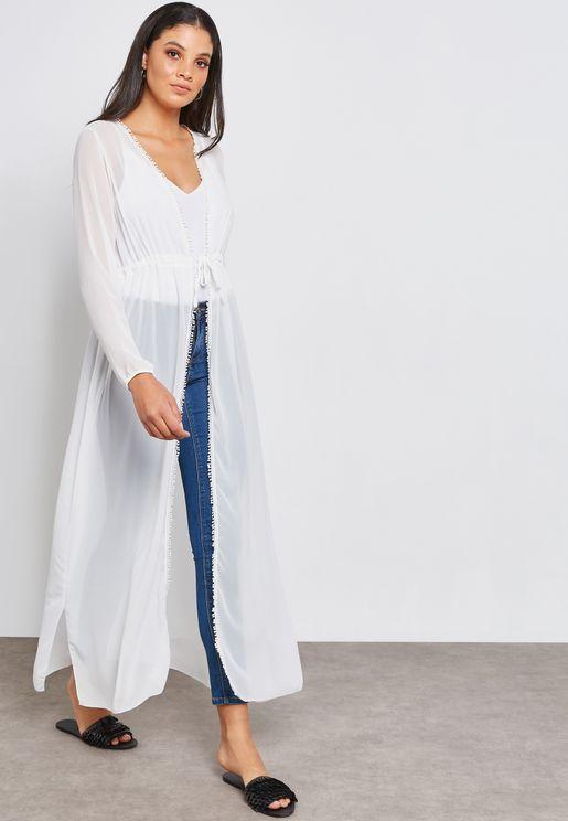 Drawstring Longline Kimono