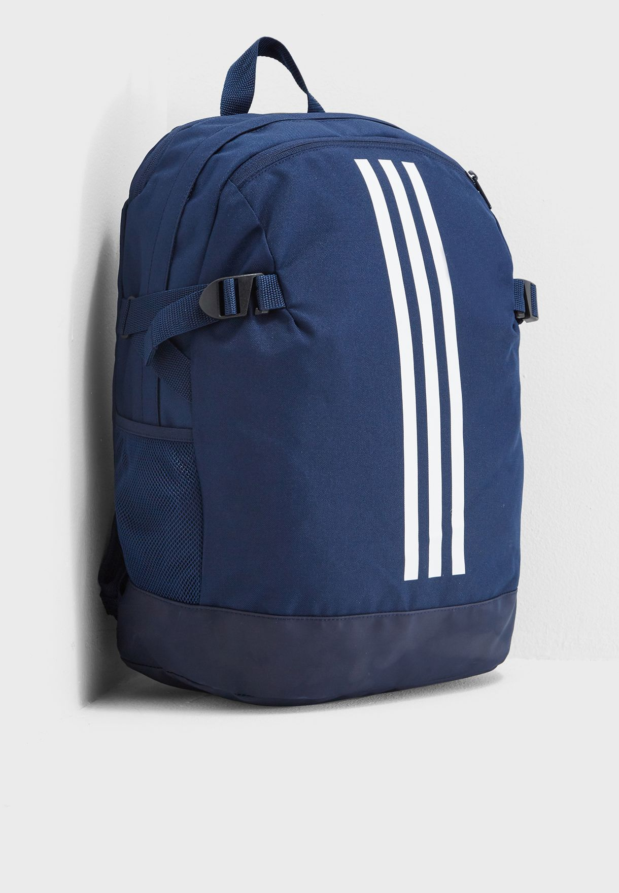 Shop adidas navy Medium 3 Stripe Power Backpack DM7680 for Men in ... 3a7e27b96e81a