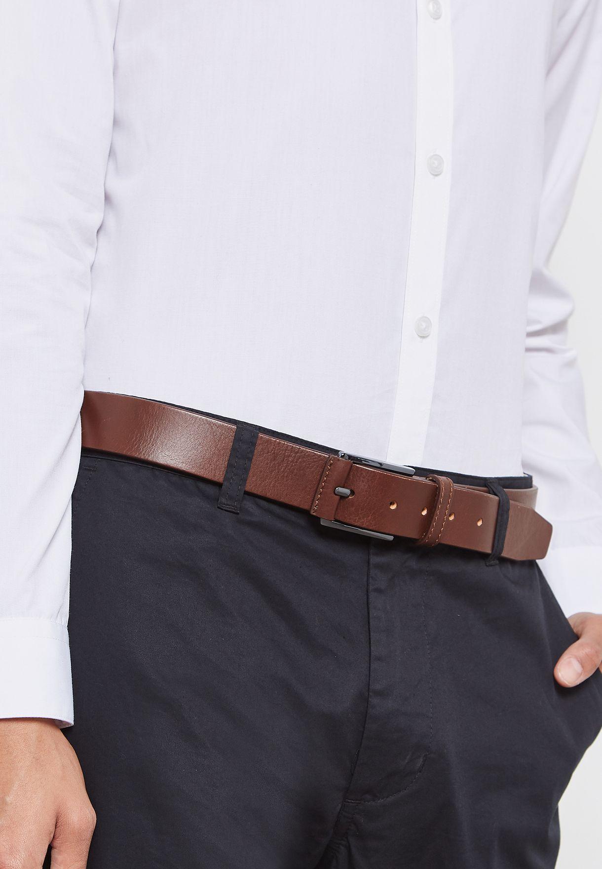 حزام جلد اصلي كلاسيكي