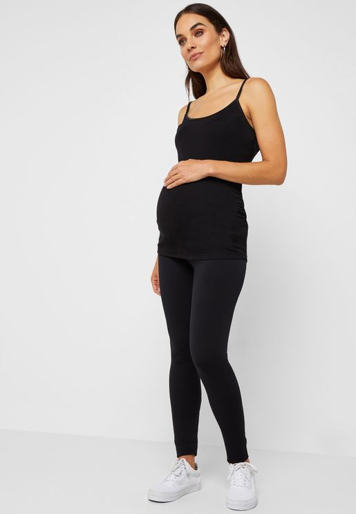 Maternity Black Seamless Over Bump Leggings