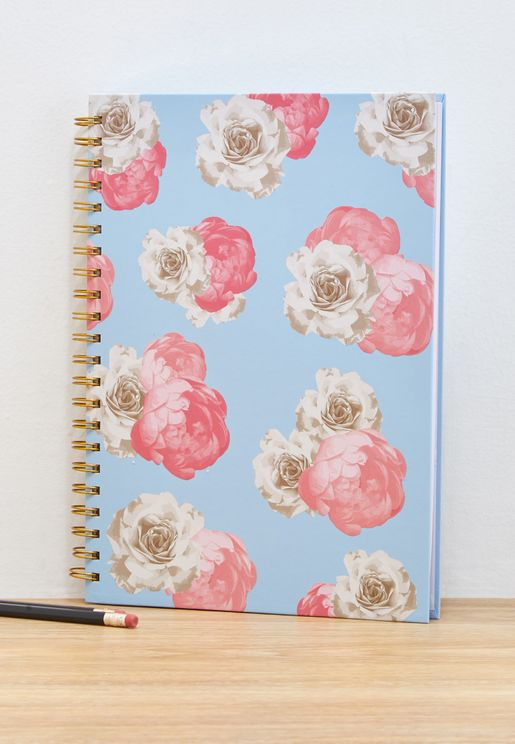 A4 Floral Pastels Notebook