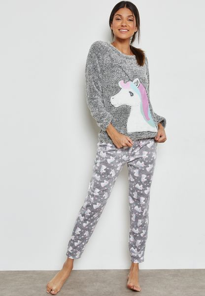 Unicorn Print Pyjama Set