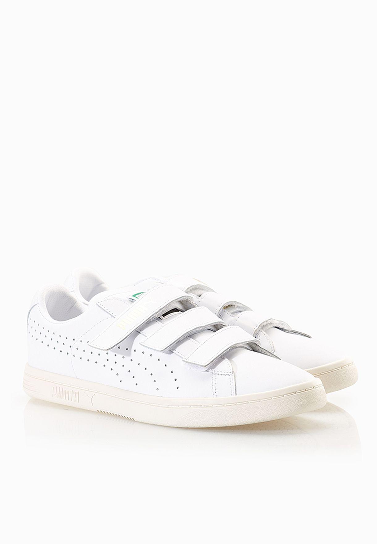 PUMA white Court Star Velcro Sneakers