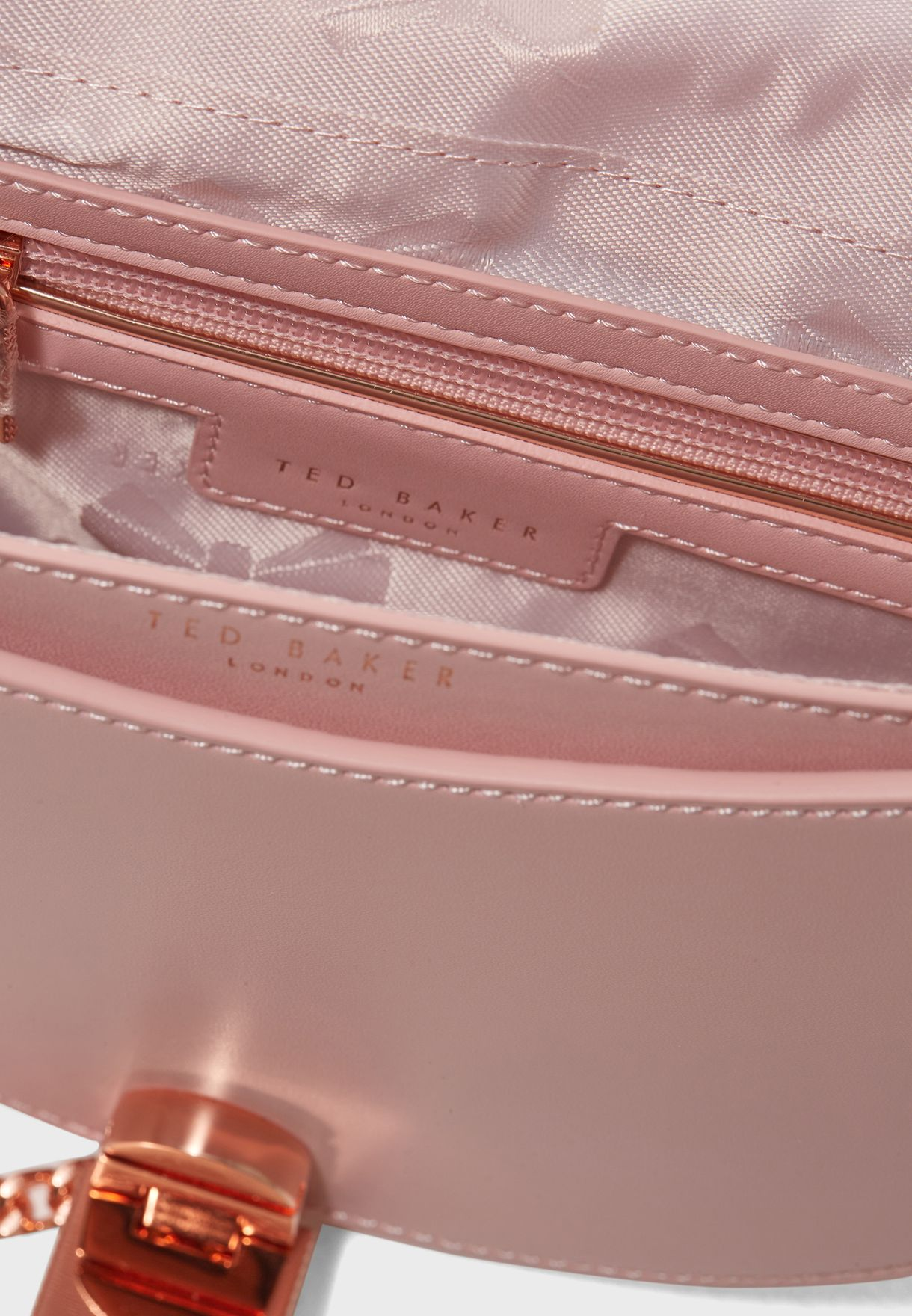 69e590de40 Shop Ted baker pink Susy Blossom Moon Crossbody 143877 for Women in ...