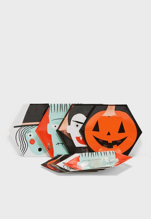 Halloween Characters Plates Set of 8