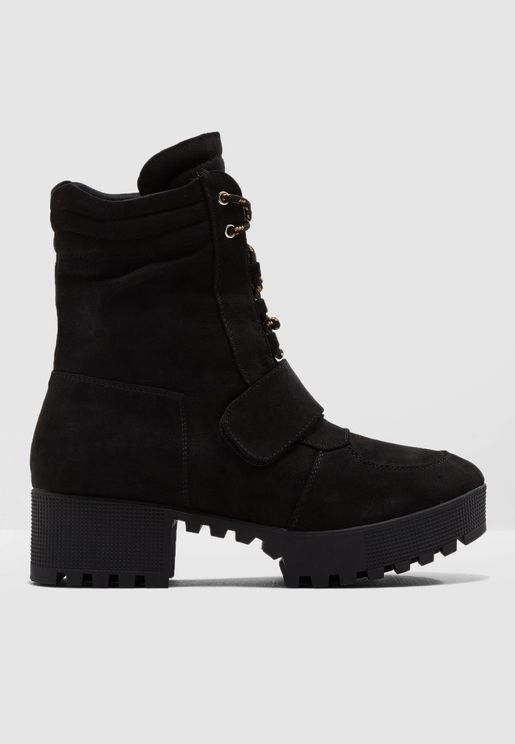 Lace Up Worker Boot