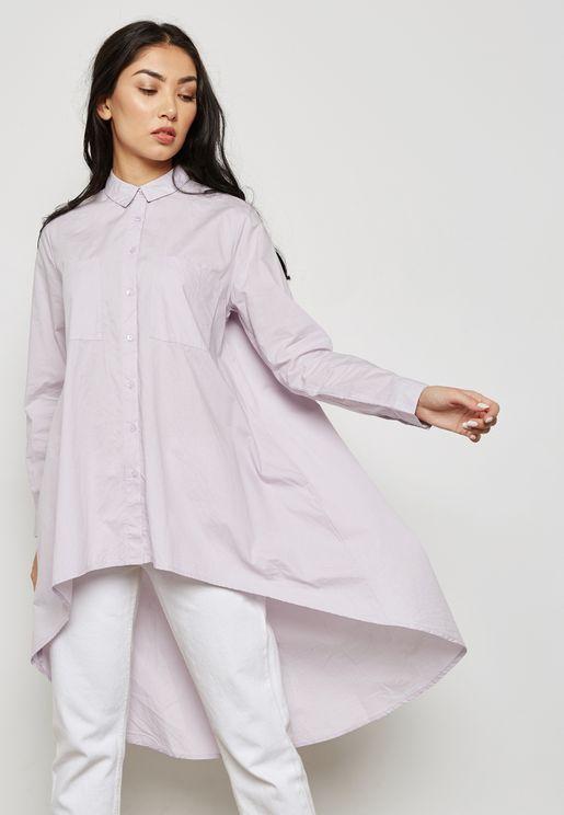 High Low Long Line Shirt