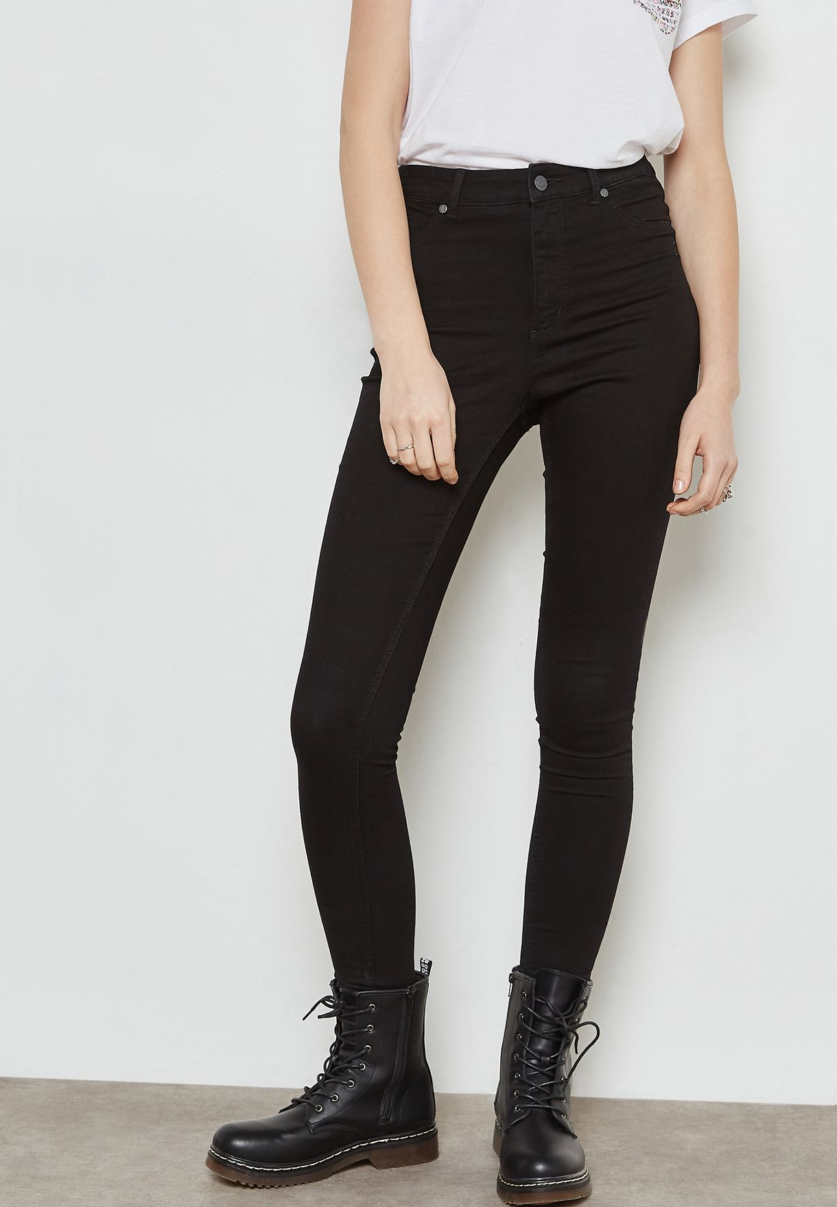 bac99a83797b Shop Cheap Monday black High Spray Skinny Jeans 0264954 for Women in ...