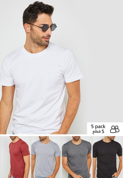 5 Pack Crew Neck T-Shirt