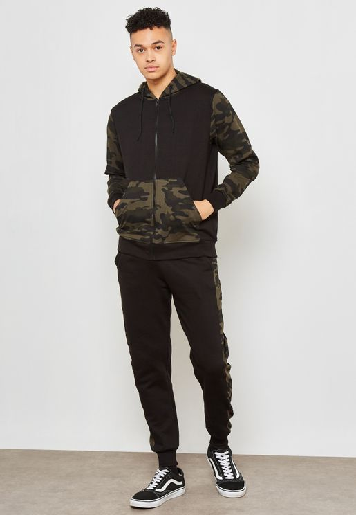 Camo Block Hooded Tracksuit