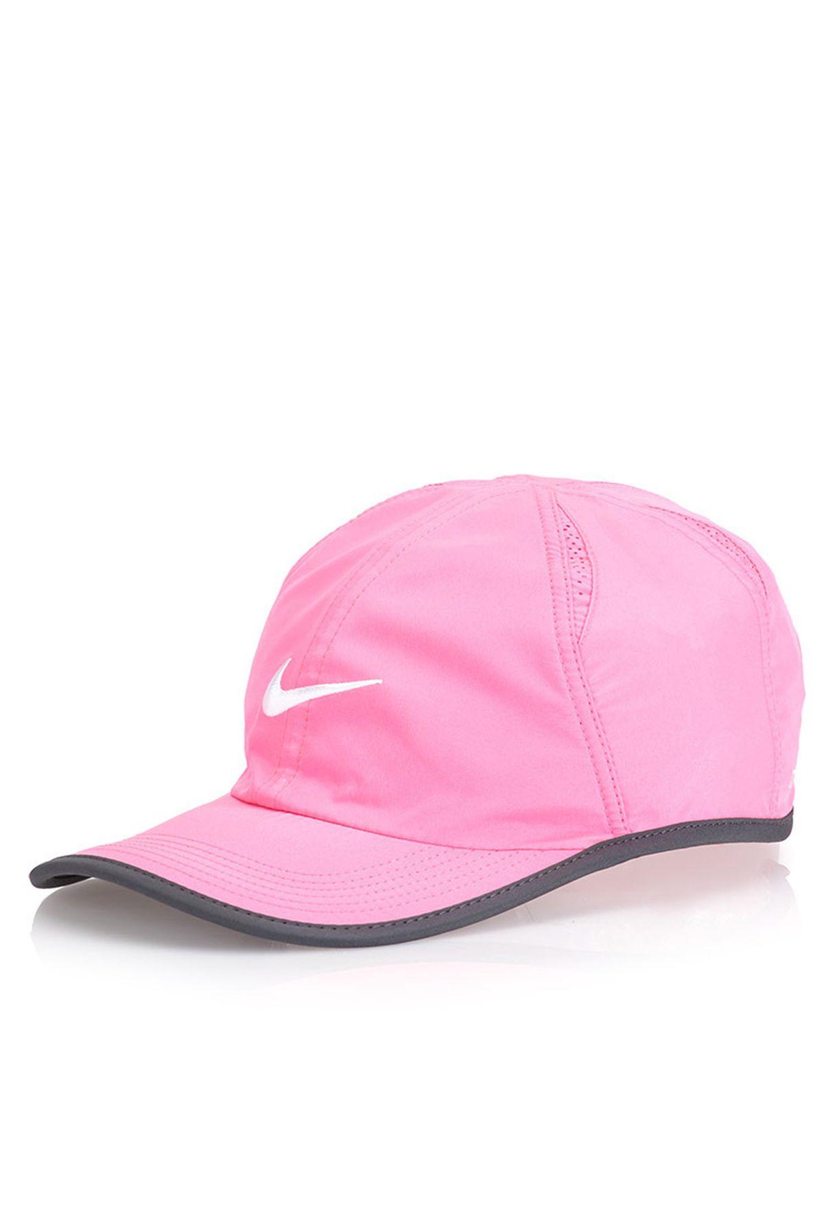 7c35a787d95c8 Shop Nike pink Featherlight 2.0 Cap for Women in UAE - NI727AC81JJU