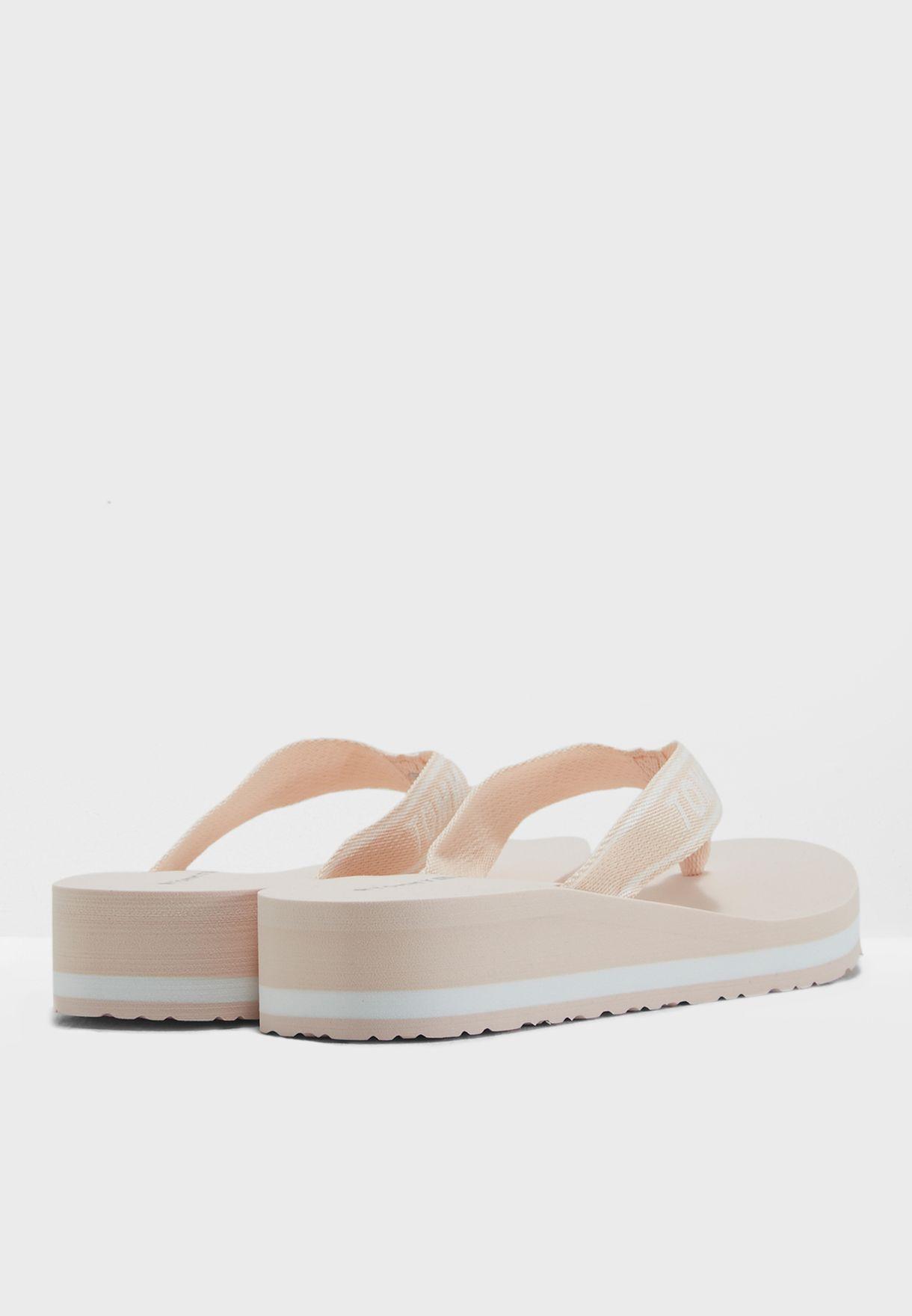 f179b73914cdb1 Shop Tommy Hilfiger pink Tommy Branding Beach Sandal FW0FW02953 for ...