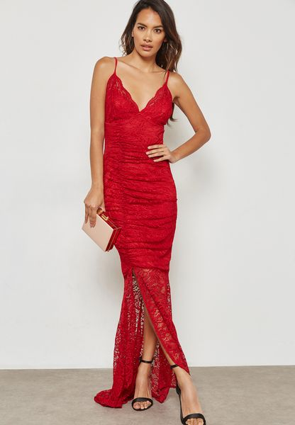 Cami Lace Slit Maxi Dress